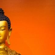 Buddha Shakyamuni statue in the Lolland altar